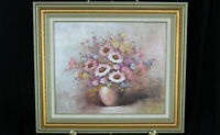 """Robert Cox floral still life painting signed oil canvas 24"""" x 20"""" daisies"""