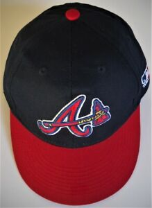 ATLANTA BRAVES KID YOUTH ADJUSTABLE RED/BLUE CAP HAT W/ STITCHED A/TOMAHAWK LOGO