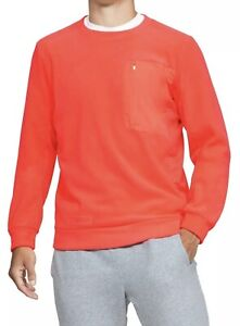 Under Armour Men's UA Trek Polar Fleece Crew Sweatshirt size L 1355098-836 Peach