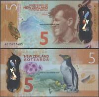 New Zealand,P191,5 Dollars,2015 ,Uncirculated,Polymer@ EBS