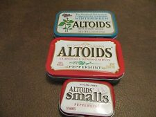3 Collectible Altoids mint tins