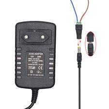 2A 24W DC 12V Trafo Netzteil Netzadapter Driver FÜR LED RGB Strip Streifen - Neu