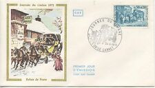 FIRST DAY COVER / 1° JOUR FRANCE / JOURNEE DU TIMBRE 1973 LE CANNET