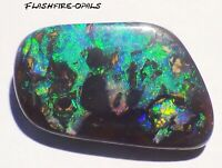 19.7ct. GEM BOULDER OPAL BRILLIANT  GRÜN-GOLD-BLAU!  VIDEO  FLASHFIRE-OPALS