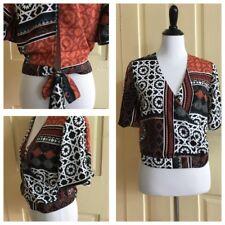 Gina Tricot Tribal Print Wrap Blouse (size 36)