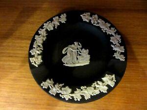 Wedgwood Black And White Jasperware pin dish / ash tray decorative Vintage