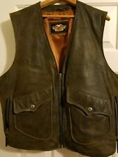 HARLEY DAVIDSON XL BILLINGS DISTRESSED LEATHER VEST