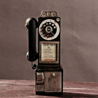 1950's Old Fashion Rotary Classic Look Dial Pay Phone Model Vintage Booth style