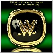 2017 WWE CHAMPIONSHIP BELT HALL OF FAME RING 24K GOLD PLATED  SIZE 11