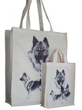 Norwegian Elkhound Dog Adult & Child Dog Treats Packed Lunch etc Cotton Tote Bag