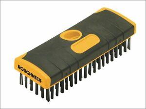 Heavy-Duty Scrub Brush Soft-Grip 200mm (8in) NO Handle ROU52060