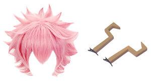 My Hero Academia Cosplay Costume Ashido Mina PVC Headdress Wigs With Elastic Cap