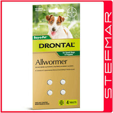 Bayer Bay-O-Pet Drontal Allwormer for Dogs and Puppies 3kg Tablet 4Pack