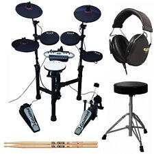 Carlsbro Compact 9-Piece Electronic Drum Kit Set +Cannon Throne +Drum Headphones