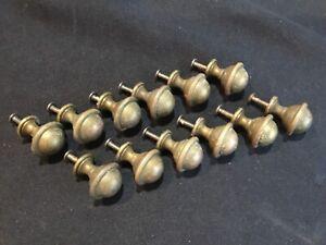 Set of 12 for 6 Drawer Solid Brass Antique Spool Cabinet Pulls Handles Hardware