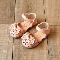 Toddler Infant Kids Baby Girls Elegant Bowknot Flower Princess Shoes Sandals