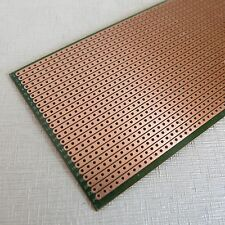 10x Stripboard Prototyping 6.5x14.5cm uncut hole pcb Single Side circuit board