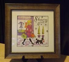 Jennifer Brinley Shopping Girl Framed Print 15x15