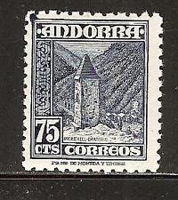 ANDORRA, SPANISH # 44 Mint Chapel of Meritxell