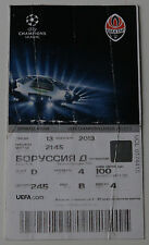 old TICKET CL Shakhtar Donetsk Ukraine Borussia Dortmund Germany