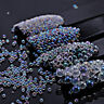 Mini Bubble Beads Clear 3D Nail Art Decoration Manicure 1-2mm Mixed Colorful DIY