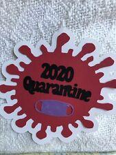 Quarantine 2020 Scrapbook Die Cut Punch Title Embellishment Cards Planner