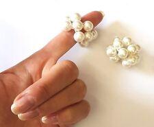 Le ragazze di piccole perle dei Capelli Banda Elastico Coda Di Cavallo Cravatta Bobbles UNICO AVORIO 2 elastici