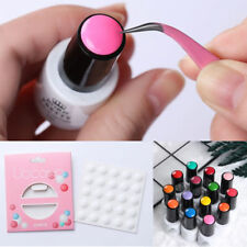 25Pcs Nail Art UV Gel Polish Color Display Button White Silicone Paster Tools