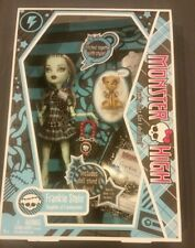 MONSTER HIGH Doll Frankie Stein 2009 Mattel watzit NIB diary 1st wave edition