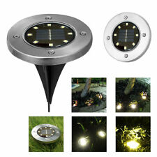 4Pc Led Solar Power Buried Light Under Ground Lamp Outdoor Path Way Garden Us