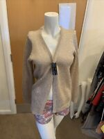 Isle Cream Sparkly Long Sleeve Buttonless Cardigan - UK Ladies Size 10-12