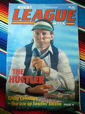 ✺RUGBY LEAGUE WEEK✺ 1987 Vol 18 No 20 SOUTHS RABBITOHS Craig Coleman NRL Big