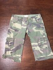 Mens Abercrombie & Fitch Camo Cargo Fit Shorts 17' W 17 1/2 Inseam Camoflauge