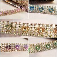 2cm- 1 metre diamante effect beaded and heart shape mesh trim ribbon sparkle