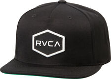 NWT RVCA COMMONWEALTH SNAPBACK II HAT Baseball Cap Black Adjustable MMA Skate