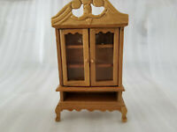 VINTAGE WOODEN DOLLHOUSE FURNITURE CHINA CABINET