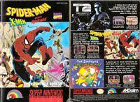 Spider-Man/X-Men: Arcades Revenge - SNES Super Nintendo -Instruction Manual Only