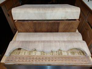 Vintage 6 Waterfall Deco vanity parts incl. drawer.  Original salvage.