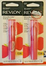 2 New Revlon Kiss Lasting Hydration w Natural Fruit Oil Lip Balm #Strawberry