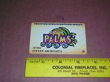 Palms Casino Players Club Slot Card Las Vegas, Nevada Old Obsolete 1990's trip