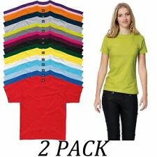 Basic Tees Machine Washable 100% Cotton T-Shirts for Women