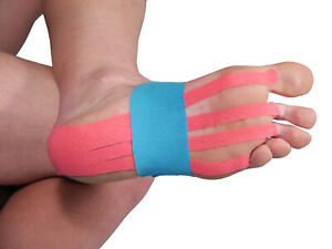 More Mile Pre-Cut Foot Support Kinesiology Tape - Blue