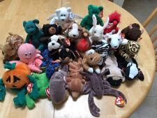 Vintage Lot of 25 Ty Retired Beanie Babies ALL NEW with ERRORS no duplicates