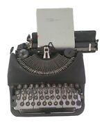 Vintage 1945 Remington Rand DELUXE MODEL 5 Portable Typewriter No Case.