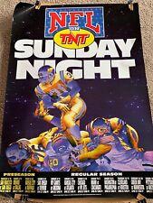 SUNDAY NIGHT NFL ON TNT POSTER 1994. Packers & Vikings  27 X  39. C@@L!!