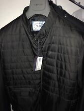 65% OFF Authentic PRADA Black Leather Trimmed Bomber/Biker Jacket IT50 L UK40