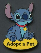 "Disney Pin STITCH Dog Collar ""Adopt a Pet"" Disney Auctions Exclusive LE 1000"