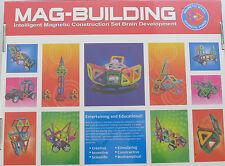 MAGNETIC CONSTRUCTION BUILDING 78 PIECE CARNIVAL SET + WHEELS 3D BUILDING TOY