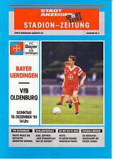 II. BL 91/92  Bayer 05 Uerdingen - VfB Oldenburg, 15.12.1991