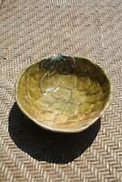 Vintage Hand Painted Italian Italy Art Pottery Artichoke Small Serving Bowl Dish